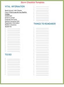 room template room checklist template room essentials