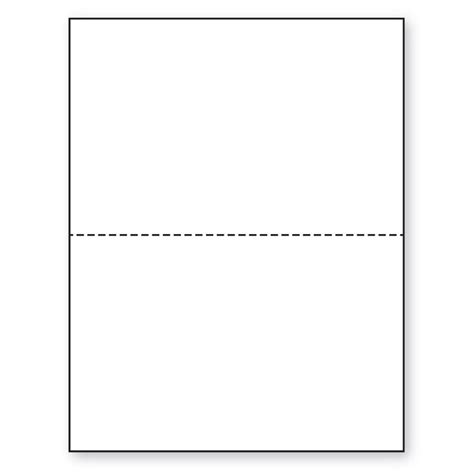 8 5 x 11 20lb perforated paper 5 1 2 from bottom