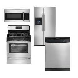 frigidaire kitchen appliance package frigidaire stainless steel 4 piece gas kitchen package