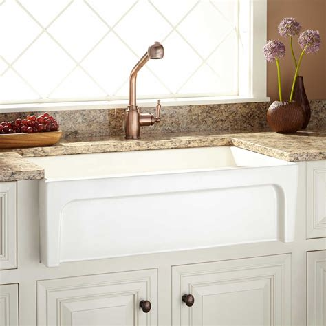 lowes farmhouse sink white kitchen bar single bowl white fireclay lowes farmhouse