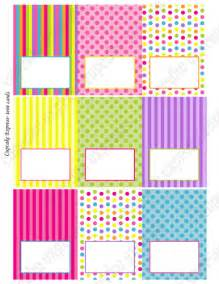 candy shoppe printable tent cards