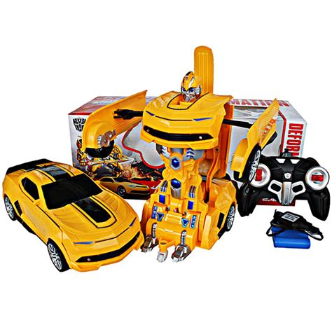 jual remote 2in1 deformation bumble bee mobil robot transformer cas mainan batam