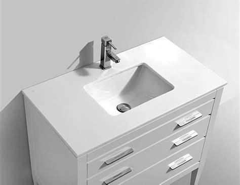 Bathroom Vanity Sydney 36 Quot Sydney White Bathroom Vanity Et6386wh