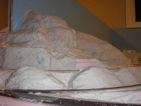 best photos of model mountains using cardboard