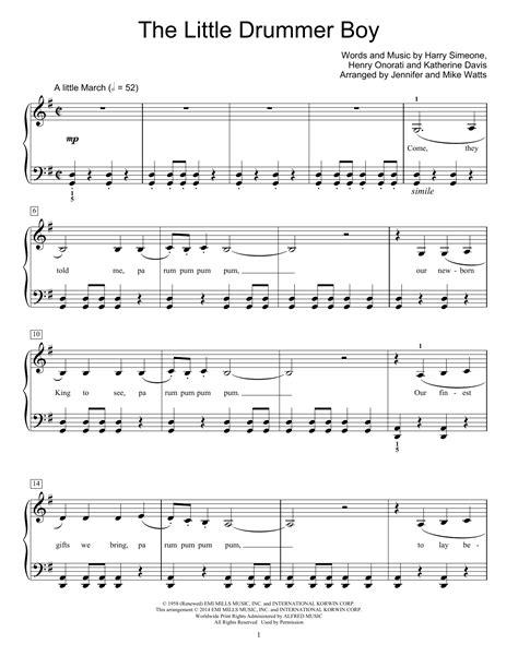 printable lyrics for the little drummer boy the little drummer boy sheet music direct
