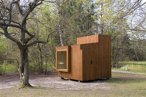 small cube home a touch of outside small houses fantastic prefab read nest is a tiny wooden cube perfect