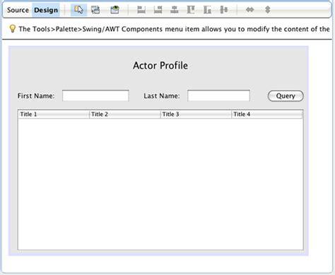 design frame java using hibernate in a java swing application netbeans ide