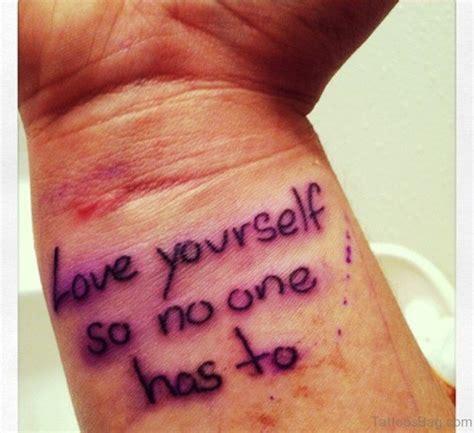 tattoo yourself 18 cool love yourself tattoos on wrist