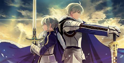 anime knight girl wallpaper knight leader and deputy leader anime series girl guy