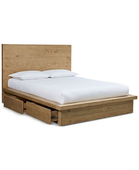 storage platform bed abilene solid pine storage california king platform bed