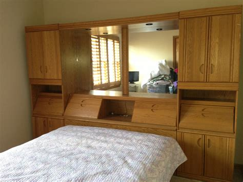 Headboard Storage Unit Wall Storage Unit Platform Bed With Mirrors Outlets Tons Of Storage Southbury Ct Patch