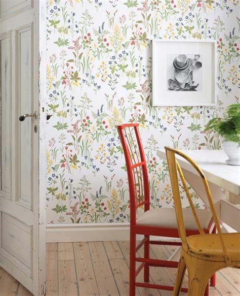 Vintage Home Design Inspiration florale tapeten naturnahes und zeitgen 246 ssisches ambiente