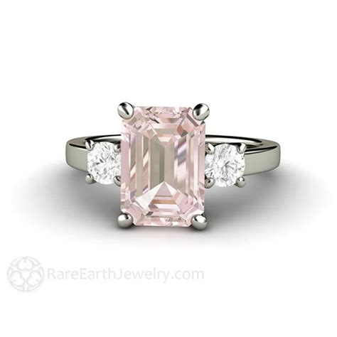 pink morganite engagement ring emerald cut 3 by