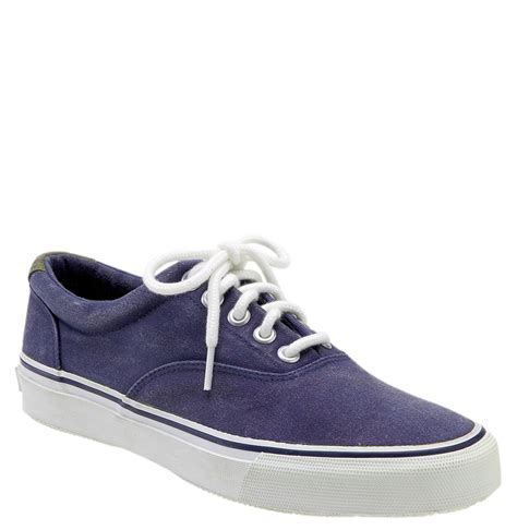 sperry sneakers mens sperry top sider striper sneaker in blue for navy lyst