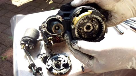 cleaning starter motor how to fix a starter motor part 1 taking apart and