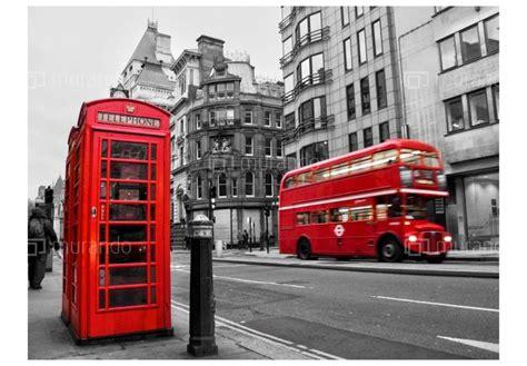 cabine telefoniche londra carta da parati 350x270 cm cabina telefonica e autobus a