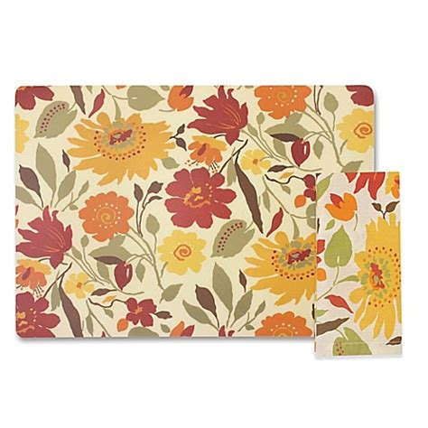 bed bath and beyond napkins blooms placemat and napkins bed bath beyond