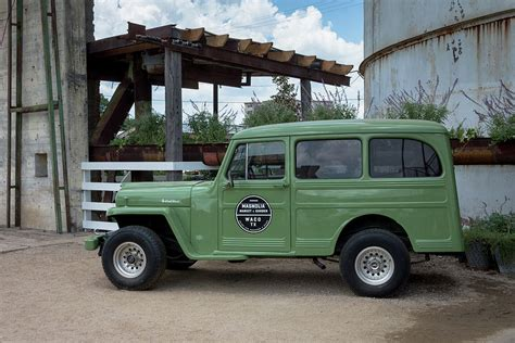 vintage jeep magnolia market vintage jeep willys wagon photograph by