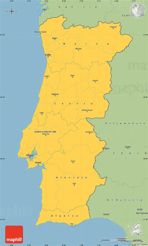 simple map of savanna style simple map of portugal