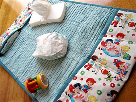Travel Change Mat Baby by Home Dzine Crafts Fabric Baby Changing Bag