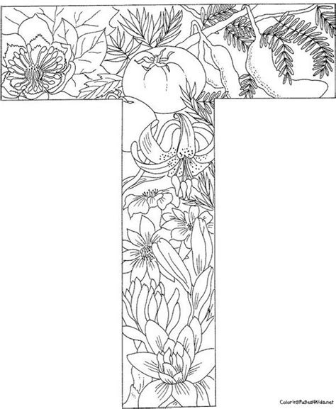 coloring pages for adults letter t 54 best images about kleurletters on pinterest coloring