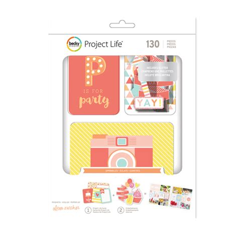 american crafts project becky higgins project value kit sprinkles paper