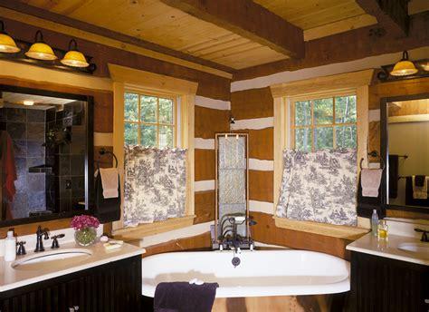bathroom log log home bathrooms