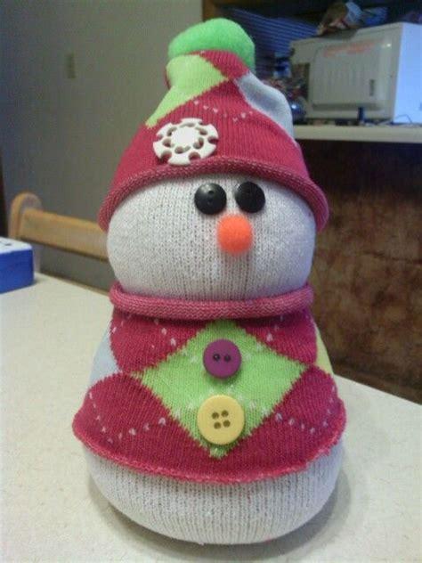 adorable sock snowman 169 best noel chaussettes images on snowman