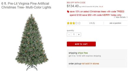 target today only big sale christmas trees got this 168