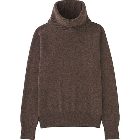 Sweater Di Uniqlo womens chocolate brown turtleneck sweater fashion skirts