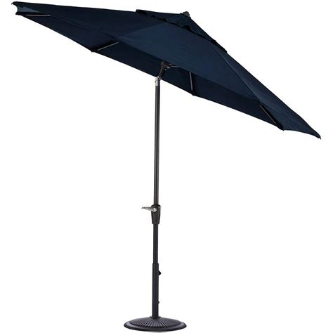 Canvas Patio Umbrella Home Decorators Collection 6 Ft Aluminum Auto Tilt Patio Umbrella In Sunbrella Canvas Navy With