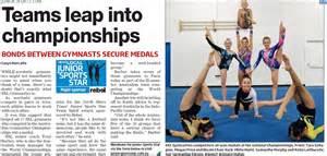 Sxl in newspaper 2014 nationals junior sports stars