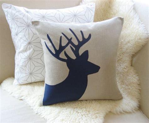 Deer Pillow by Deer Pillow Cover Rustic Modern Stag Antlers