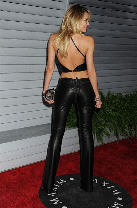 Candice Top by Candice Swanepoel Leather Top Leather