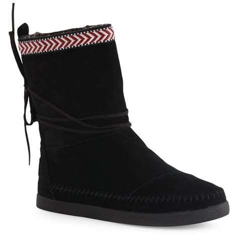 toms nepal boots womens boots in black