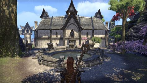 elder scrolls online housing player housing in update 12 altmer style house near mathiisen and dunmer style house