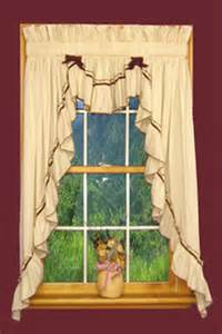 Country Swag Curtains Bj S Country Charm Ruffled Swags Country Ruffled Swag