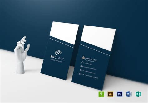 real estate business card template photoshop 39 unique business card designs free premium templates
