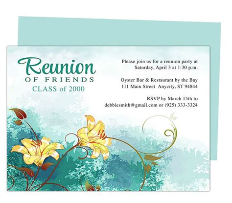 12 Best Images About Printable Family And Class Reunion Templates On Pinterest Parks Reunions Class Invitation Template