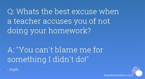 Excuse Letter Not Doing Homework 100 Excuses For Not Doing Your Homework College Essay