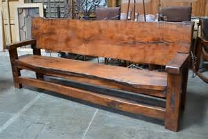 banca tablon rustic outdoor benches demejico