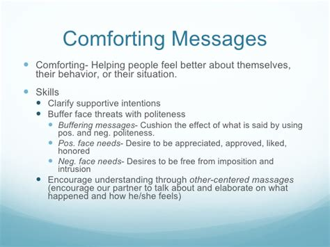 comforting definition chap8 communication skills in interpersonal relationships