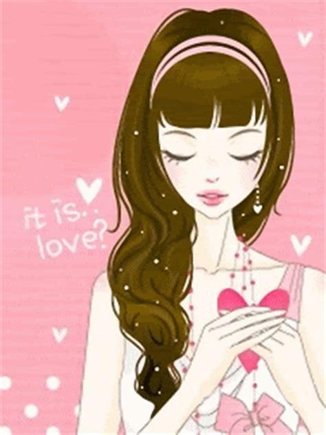 gambar kartun korea cantik jatuh cinta gambar anime korea i you animasi bergerak lucu