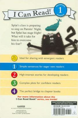 I Can Read Level 1 Splat The Cat Snow splat the cat sings flat i can read series level 1 by rob scotton robert eberz paperback