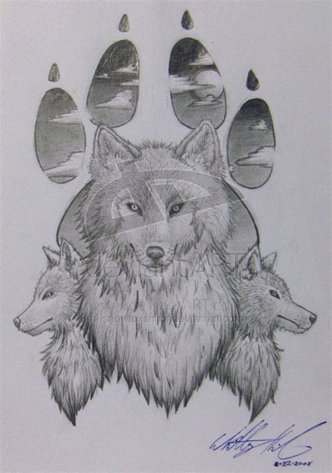 wolf paw print tattoo designs wolf images designs