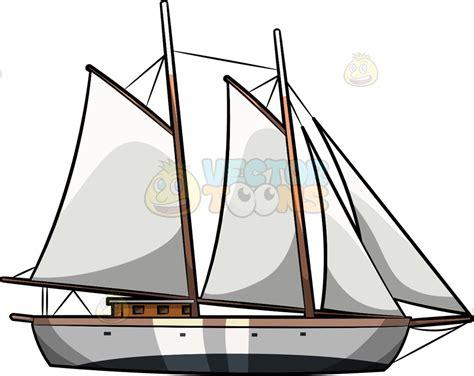 a sailboat cartoon clipart vector toons - Cartoon Sailboat Vector