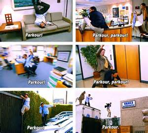 the office parkour the office p the