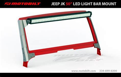 Jk 30 Light Bar Mount Jeep Jk 50 Quot Led Light Bar Brackets Pirate4x4 4x4