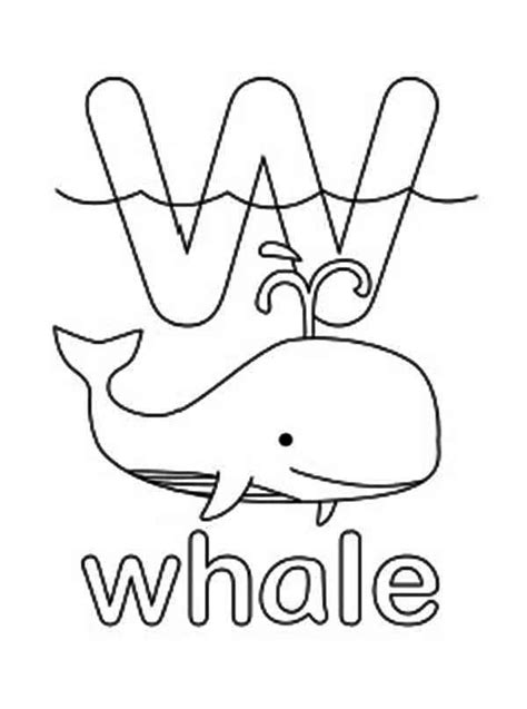 coloring pages for letter w w is for whale coloring page coloring home