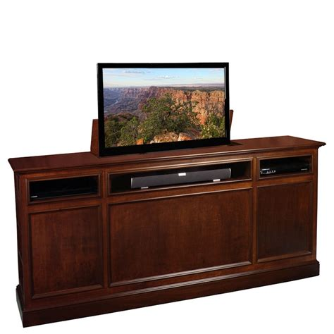 footboard tv lift cabinet 5688 1000 images about tv lift on flats console